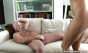 blonde hotie Monica Sweetheart pleasures her dude