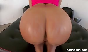 mom with adorable smile and vast butt getting your hands on pounded from ass