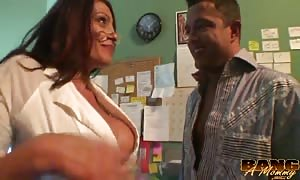 elegant captivating milf is liking quick ramming in office with a random man