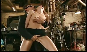 thin blond in short black miniskirt provides head before and after anal sex sex