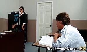 milf Ava Addams trains her coed Seth Gamble howto bang