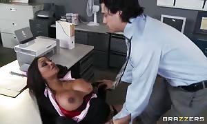 exciting huge-boobed office worker Priya Anjali Rai seduces her chief's son Xander Corvus in the office