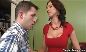 sexy horny mommy Carina Roman in xxx youngster disgrace!