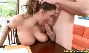 stunning dark-haired mother Stacie Starr sucks manhood to Jmac