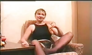 filthy russian mom is spreading her stems and tonguing banana