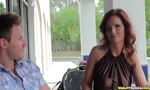 turned on red head milf is getting your mitts on your mitts on seduced and fucked on digital camera