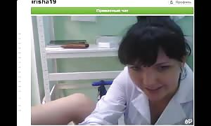 nasty black-haired is deepthroating her finger and playing with a vag
