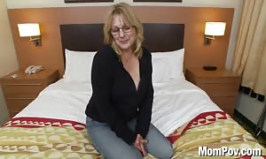 disgraceful huge titty mature lady's first porn