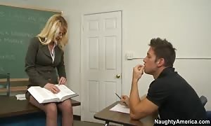 Tutoring him after magnificence