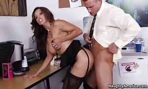 Francesca Le & Bill Bailey in wild Office