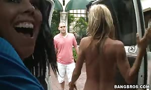 gorgeous big-breasted hookers deep throat in the movie clip