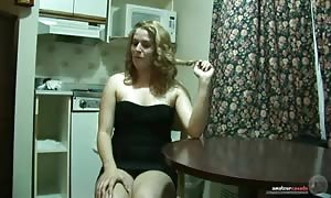 huge titted brand-new cummer is acting hot in front digital camera in the kitchen