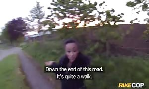Fake-tit latin lady beauty is being screwed in the vid by pretend police officers officer