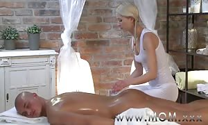 mommy blonde mother I would like to fuck takes his size