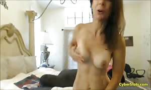 lovely babe stroking his dick on internet cam