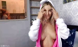 old woman caught her slutty step daughter with jizz