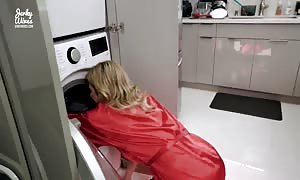 banging My Step cougar in the butt just as She is Stuck in the Dryer - Cory Chase