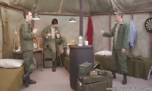female Soldier Smoking turned on climax