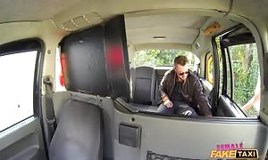 huge-boobed mommy I'd like to screw makes deepthroat face fuck for a casual guy on a back seat of woman pretend Taxi