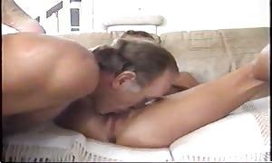 couple makes hot porno on the sofa