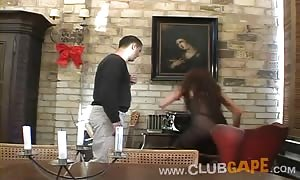 Club Gape female is being fiercely pounded in her face