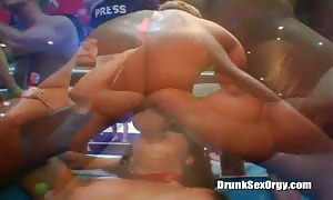 Astonishing drunk ebony is being pounded by a muscular stripper