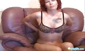 boyfriend nails a nasty red head mom in her yummy anus