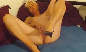 thin german mother I would like to fuck tugs his cock