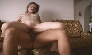 rookie blonde mom I would like to fuck pounding Younger guy With cum-shot facial